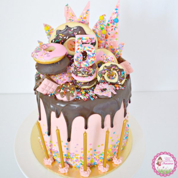 Donut Themed Birthday Cake