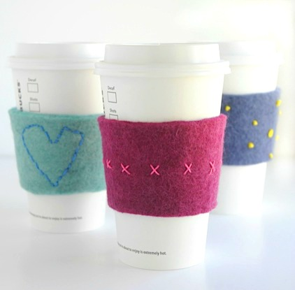 Felt Coffee Cozies