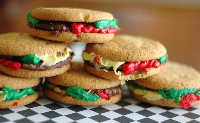 13 Tricks for an April Fool's Day Treat Hamburger Cookies