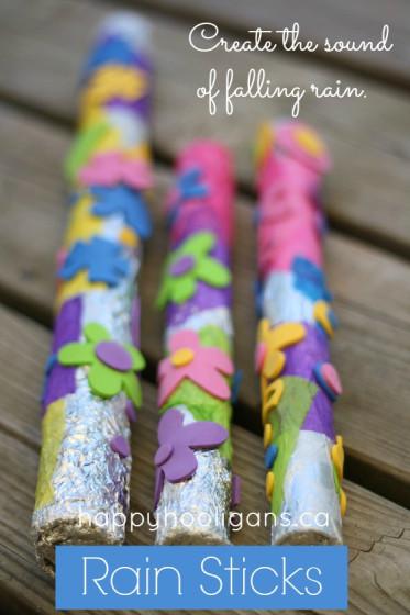 14 Rainy Day Inspired Projects to Make Rain Sticks
