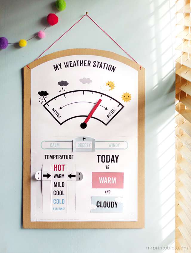 14 Rainy Day Inspired Projects to Make Weather Station