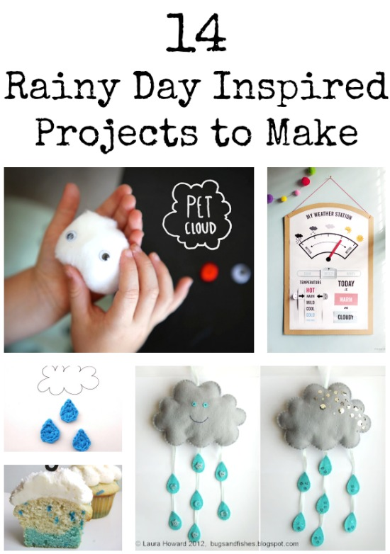 14 Rainy Day Inspired Projects To Make Make And Takes