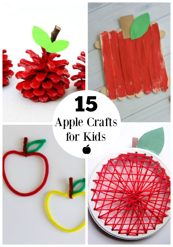 15 Apple Crafts for Kids