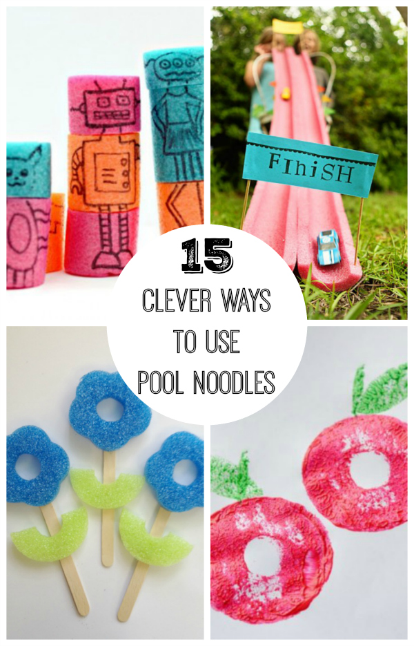 15 Clever Ways To Use Pool Noodles Make And Takes