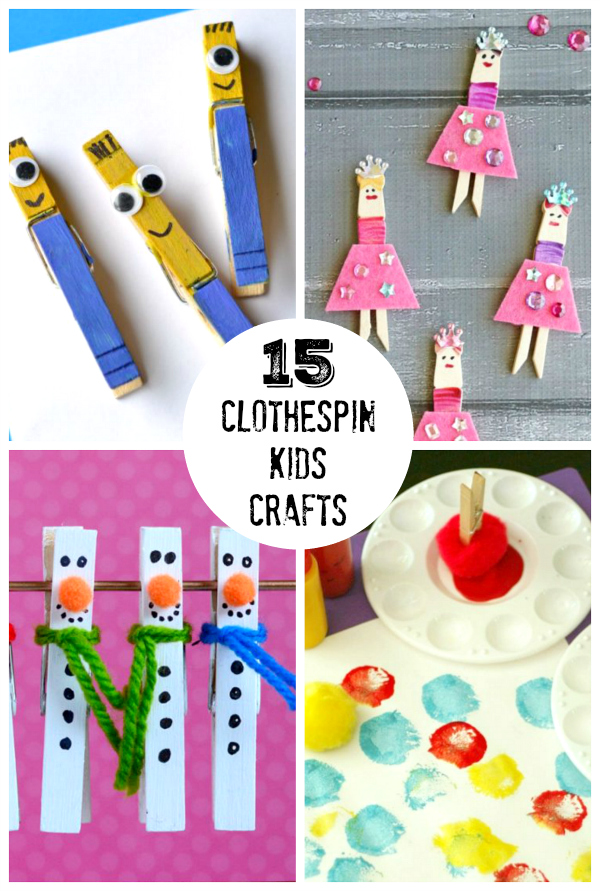 Clothespin Art Projects For Toddlers