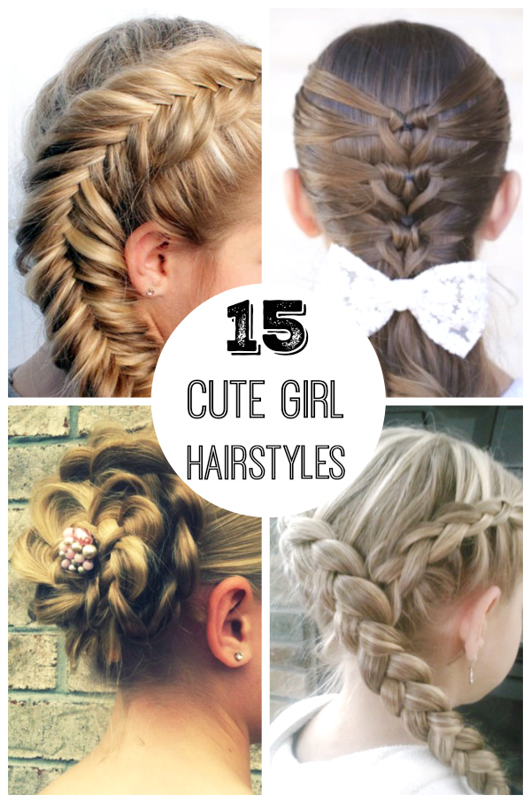 Strange 15 Cute Girl Hairstyles Make And Takes Hairstyles For Men Maxibearus
