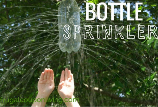 15 DIY Water Toys to Make for Summer Bottle Sprinkler