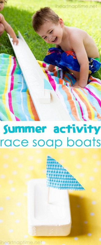 15 DIY Water Toys to Make for Summer Soap Boats