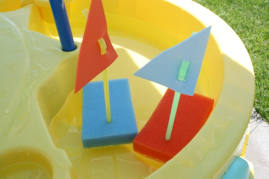 15 DIY Water Toys to Make for Summer Sponge Boats