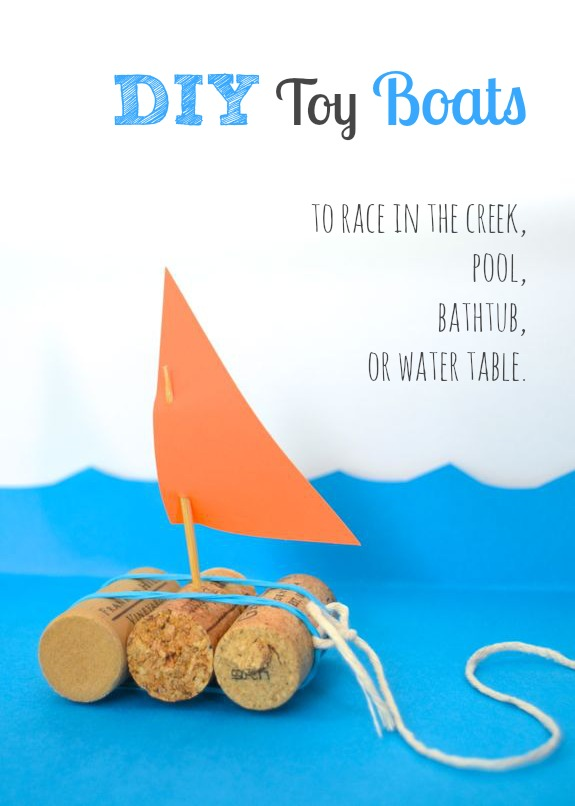 15 DIY Water Toys to Make for Summer Toy Boat