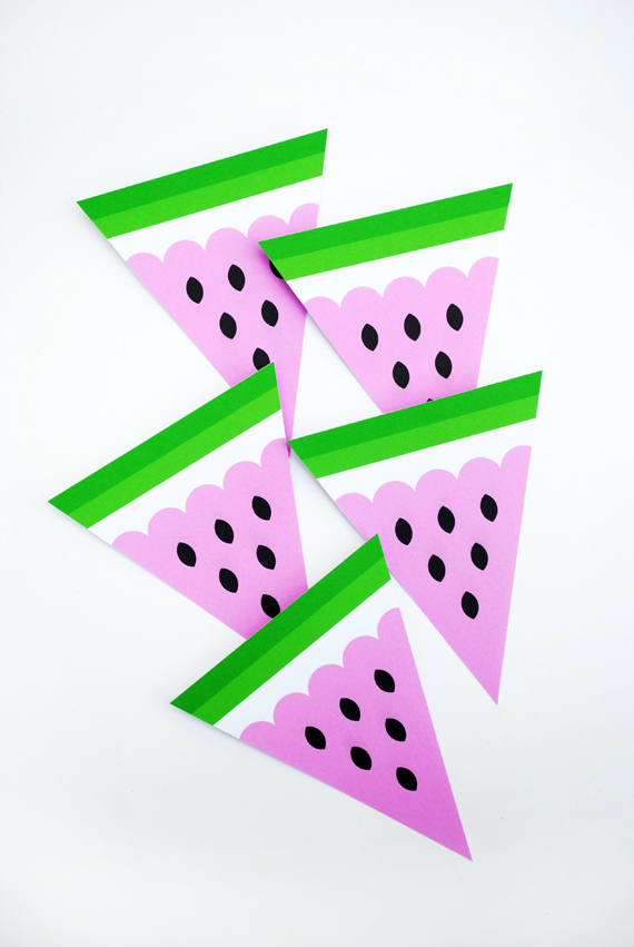 15 DIYs to Make for National Watermelon Day Bunting
