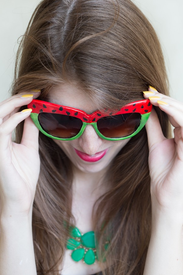 15 DIYs to Make for National Watermelon Day Sunglasses