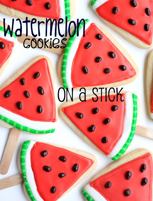 15 DIYs to Make for National Watermelon Day Watermelon Cookies