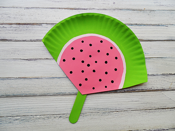 15 DIYs to Make for National Watermelon Day Watermelon Fan Craft