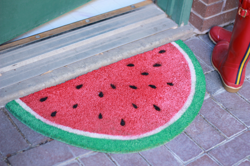 15 DIYs to Make for National Watermelon Day Welcome Mat