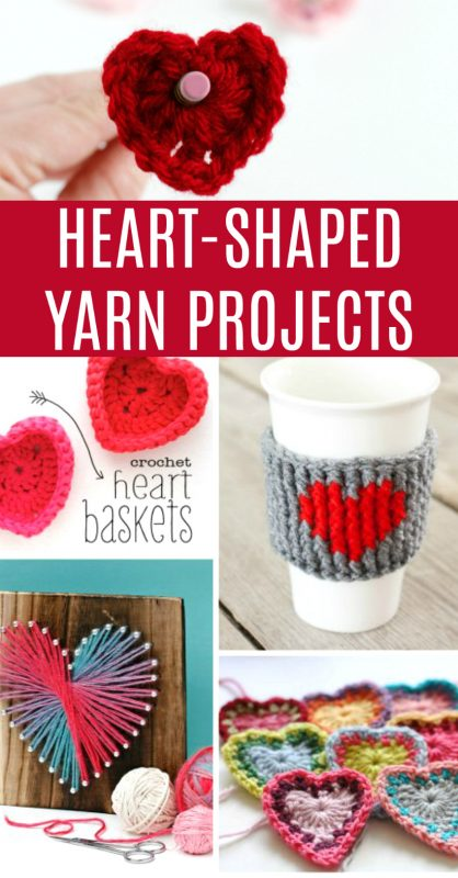 15 Heart Shaped Yarn Projects to Make