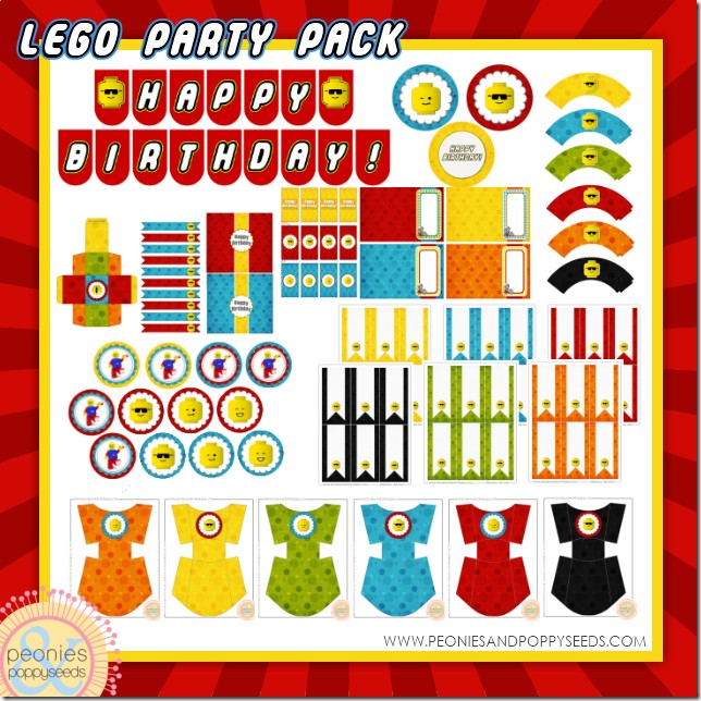 Lego Birthday Party Printable Pack