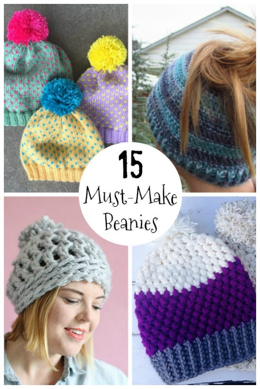 15 Must Make Knit And Crochet Hat Patterns Make And Takes
