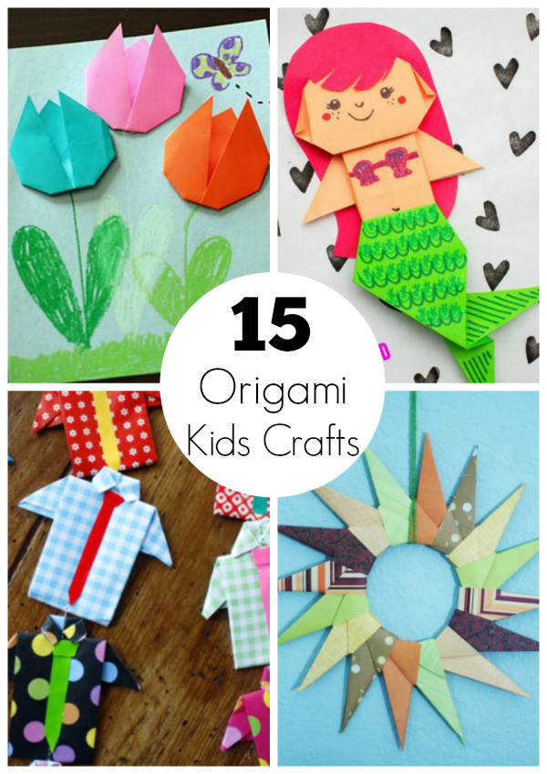 15 origami paper crafts for kids to create make and takes for Make it take it crafts
