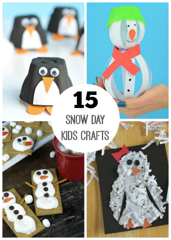 15 Snow Day Crafts for Kids