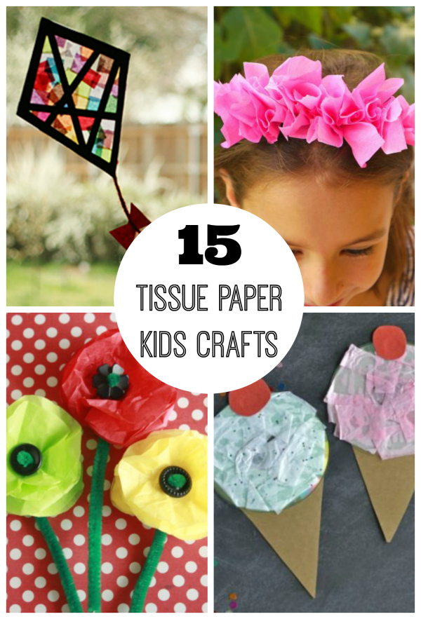 15 Tissue Paper Crafts For Kids Make And Takes