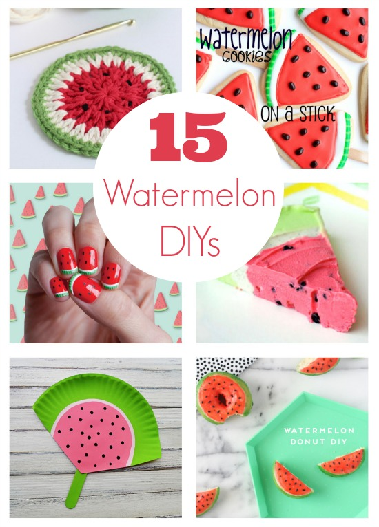 15 watermelon diy projects to make everythingg. Black Bedroom Furniture Sets. Home Design Ideas