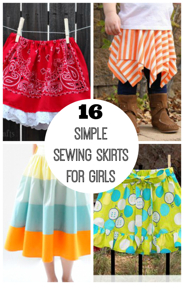 376ee5ae42 16 Simple Sewing Skirts for Girls | Make and Takes