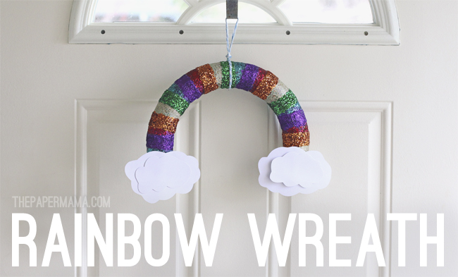 17 DIY Lucky Rainbows to Make Rainbow Wreath