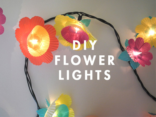 Cupcake Flower Lights
