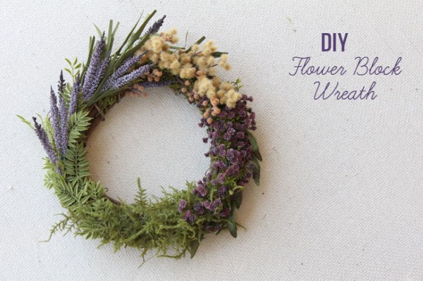 20+ Spring Flowers and DIY Vases to Make Flower Block Wreath