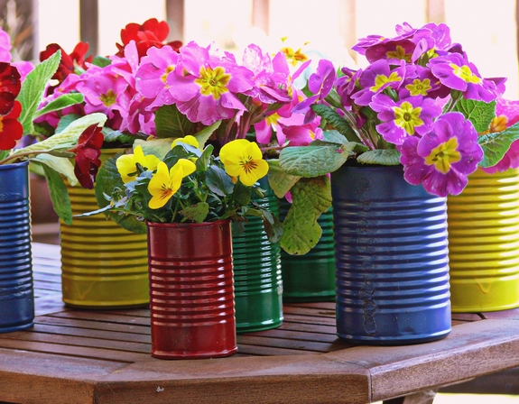 DIY Flower Pot Centerpieces