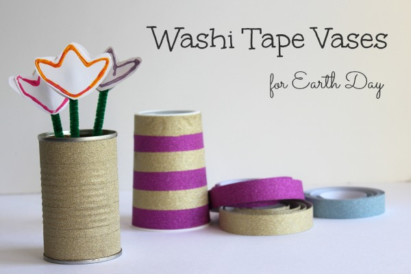 20+ Spring Flowers and DIY Vases to Make Washi Tape Vase
