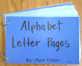 alphabet letter pages