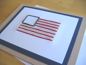 american flag hand stitched card pattern make and takes