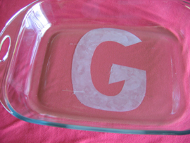 Etched Glass Pans