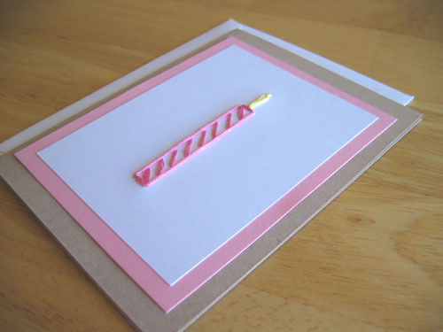 Birthday Candle Stitched Card
