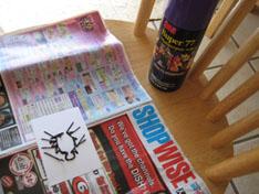 glue spider stitched card