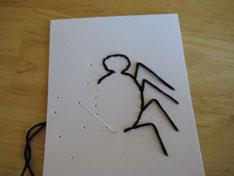half of body spider stitched card
