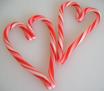 Image result for diy Candy cane heart