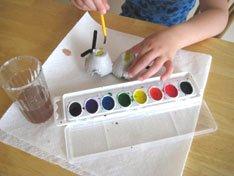 Painting Egg Carton Bugs