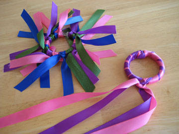 crafting ribbon rings