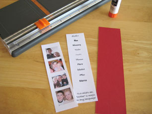 Paper for Mom Bookmark