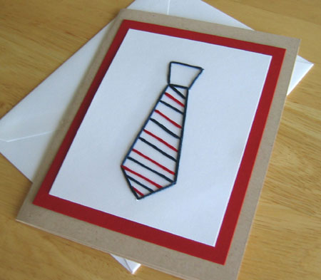 Stitched Card Tie Pattern