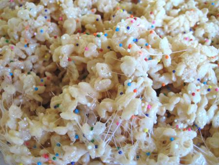 Sprinkled Rice Cripsy Treats