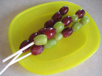 Frozen Grape Pop Treat