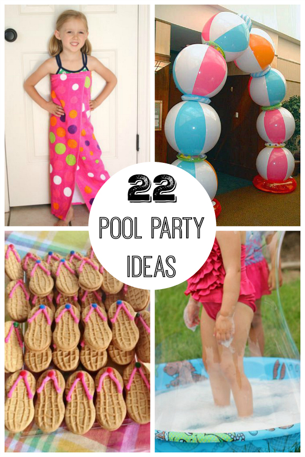 Outside halloween party decorations - 22 Summer Pool Party Ideas Make And Takes