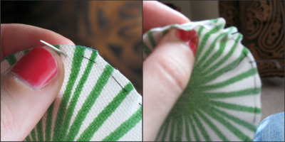 Sewing Fabric Flowers