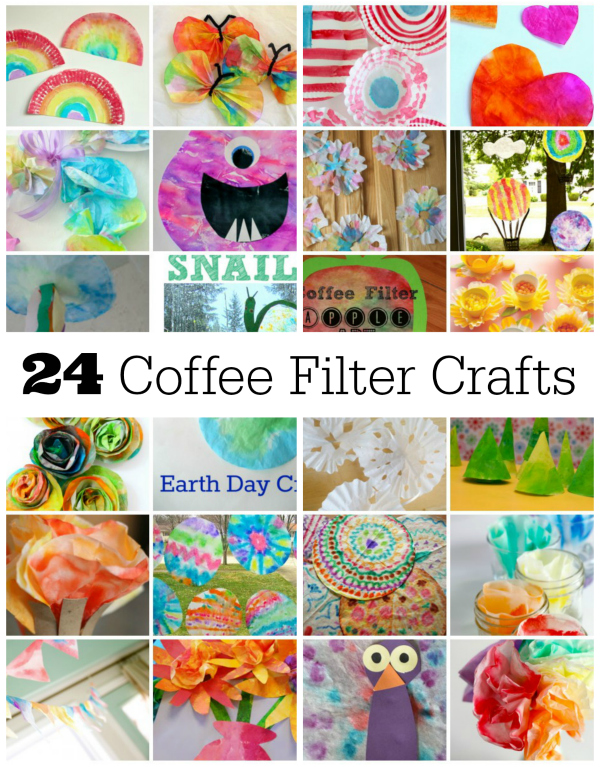 24 fun coffee filter crafts to make make and takes for Art and craft books for kids