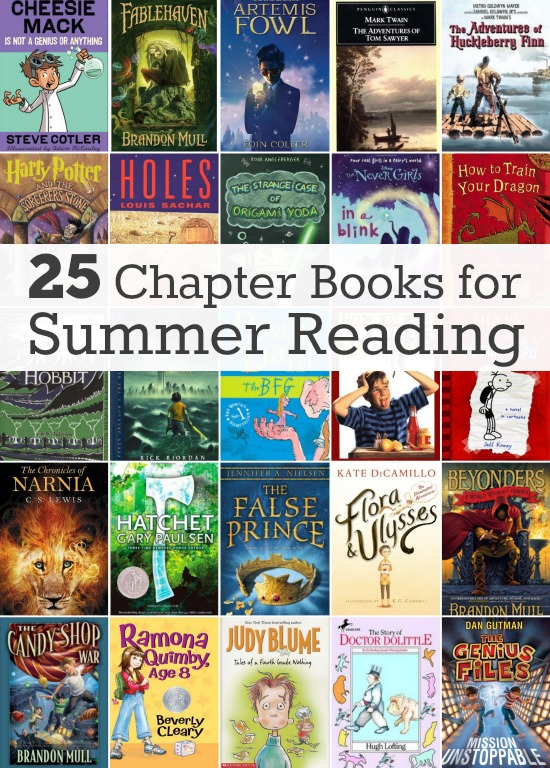 25 Chapter Books for Summer Reading