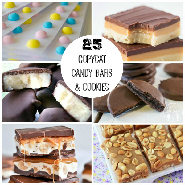 25 Homemade Copycat Candy Bars and Cookies